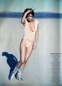 'White Magic' Vogue UK March 1990 feat Helena Christenen