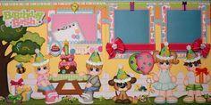 ELITE4U JULIE CHILD BIRTHDAY premade scrapbook Layout pages album paper piecing