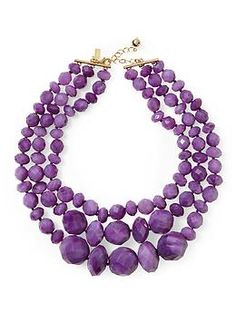 I love big, bold necklaces -- and in purple! Kate Spade New York Give It a Swirl Triple Row Necklace | Piperlime