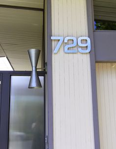 original Eichler lighting | And the original doorbell and mail slot. All from 1962. A very good ...