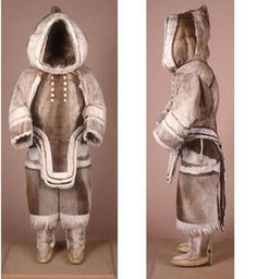 Caribou is better for winter clothing then the best high tech clothing made today. That's why native inuit worship this animal even higher than the musk oxen. Arte Inuit, Inuit Art, Inuit Clothing, Woman Clothing, Skins Clothing, Inuit People, Polo Norte, Tlingit, Le Far West