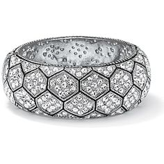 Some hexagonal bling for the wrist: Neno Buscotti Silvertone crystal hexagon bangle