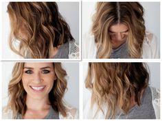 TESSA RAYANNE: THREE DIY medium wavy Hair Tutorials