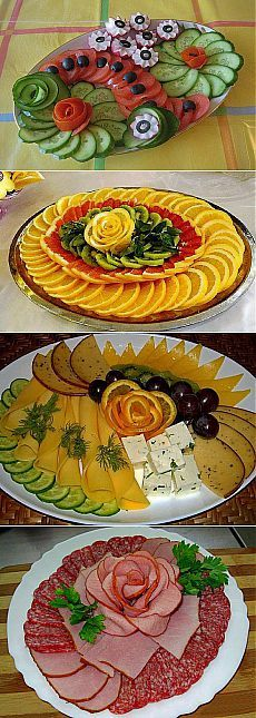Rezepte, Ideas for dessert bowls for parties Party Food Platters, Veggie Platters, Food Trays, Veggie Tray, Fruit And Veg, Fruits And Veggies, Buffet Party, Creative Food Art, Food Carving