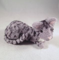 Say Meow to Tabitha!!  A handmade Needle Felted Kittyt by FlomopStudio!!