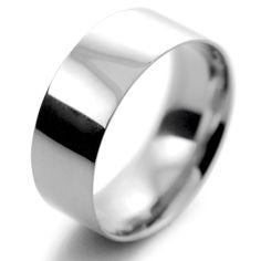 Platinum Wedding Ring Flat Court Light - 8mm