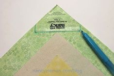 Learn How to make easy mitered corners with the No-Math Miter Template by Nancy Zieman of TVs Sewing With Nancy. Quilting Tools, Quilting Rulers, Quilt Binding, Quilt Blocks Easy, Easy Quilts, Sewing Mitered Corners, Sewing With Nancy, Nancy Notions, Nancy Zieman