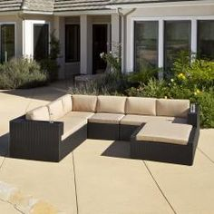 Ventura PE Wicker 5-piece Outdoor Sectional