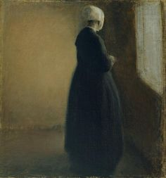 Old Woman Sranding by a Window, Vilhelm Hammershoi - 1885