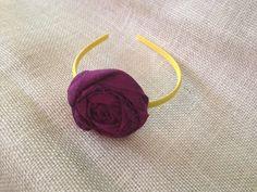 Yellow and Purple Headband by SassyFrassShops on Etsy, $5.00