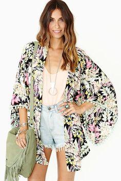 Tropicale Kimono