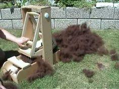▶ fibre wool picker / fleece blender / pre drum carder - YouTube