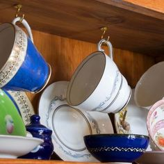 How to Install hooks under cabinets to hang coffee mugs