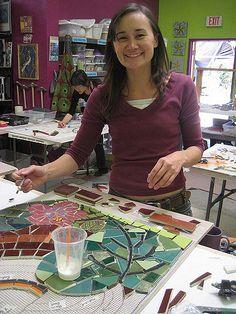 Institute of Mosaic Art Mural Making Intensive April 2008 Susanne Takehara, Carol Waldren, Pam Goode, Renata Kolarova, Laurel True, Jill Montgomery, Karla Silva Ruiz, Kim Grant