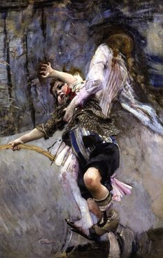 Child with Hoop (Giovanni Boldini - )