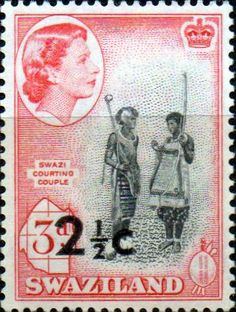 Swaziland 1961 Swazi Courting Couple SG 69 Fine Mint SG 69 Scott 71 Other British Commonwealth Empire and Colonial stamps Here