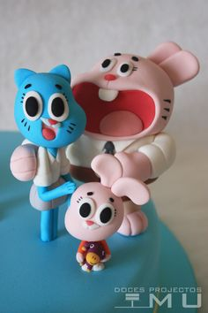 doces projectos MU: Bolo David_The Amazing World of Gumball_Março 2015