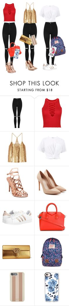 """""""3 Ways to Style Black Jeans"""" by carly678 ❤ liked on Polyvore featuring Topshop, WithChic, TIBI, T By Alexander Wang, Madden Girl, Alexander McQueen, adidas Originals, Givenchy, Gucci and Superdry"""