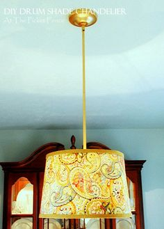 At The Picket Fence DIY Drum Shade Chandelier Tutorial