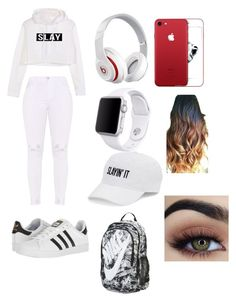 """slayin ⌚/ high school"" by littledivaalexia ❤ liked on Polyvore featuring adidas, Beats by Dr. Dre, Apple, SO and NIKE Beats By Dr, High School, Adidas, Apple, Shoe Bag, Nike, Polyvore, Stuff To Buy, Shopping"