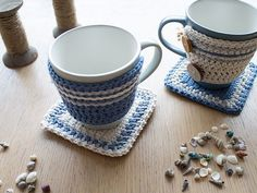 In this tutorial we'll be making a cute crochet set for your favourite mug: a cute cosy (mug hug) with a matching coaster (rug). We were inspired by coastal colours for our colour palette, but you...
