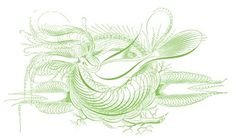 Free Antique Clip Art - Pen Flourished Bird with Nest - The Graphics Fairy