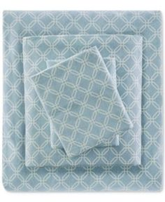 True North by Sleep Philosophy 4-Pc. Cotton Flannel Reversible California King Sheet Set - Blue