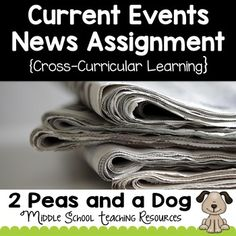 It is important for students to be informed about current events happening locally and globally. In this NO PREP just photocopy activity, students examine online or print news sources to report on a current event for their class. This can be used with any non-fiction new article or text. ($)