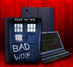 Dr Who Tardis Bad Wolf Leather Case For iPad 2, iPad 3 and iPad 4 via Etsy
