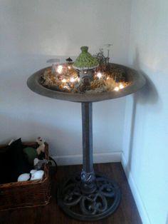 Indoor Fairy Garden Ideas best 25 indoor fairy gardens ideas on pinterest Birdbath Fairy Garden Bring Indoor Add Lights Get Creative