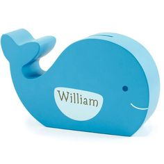 Personalized Wooden Whale Bank | Wooden Whale Coin Bank | Unique Piggy Banks