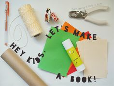 Easy book binding craft for kids