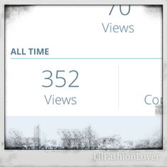 My wee Blog was one week old at the weekend and this is my all time views. So proud and so overwhelmed. Thanks everyone