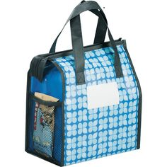 Bring this cute lunch box to work! Laminated material is water resistant and easily wipes clean!