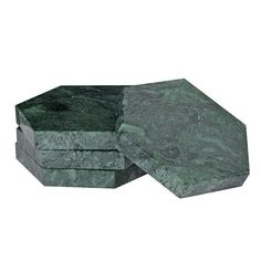 These fab coasters are a brilliant way to introduce a touch of green into your home. Their modern shape contrasts beautifully with the natural marble patina.