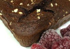 Bizcocho fit de Chocolate y frambuesas