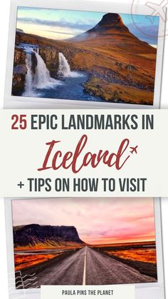 Iceland is the land of fire and ice, and full of surprises - Here you can find 25 Iceland attractions you need to add to your bucket list, and that will just blow your mind. Some of the most famous Iceland landmarks you can find around Reykjavik, Golden Circle route, Ring Road route plus an exclusive hidden-gems in Iceland you won't believe exist. This is the ultimate Iceland top places to visit guide - Iceland Landmarks| Where to visit in Iceland | Iceland Top attractions | Iceland top places Europe Travel Outfits, Europe Travel Guide, Travel Guides, Iceland Destinations, Iceland Travel Tips, Best Places In Europe, Best Places To Travel, Future Travel, Travel Aesthetic
