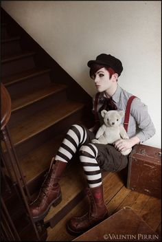 Valentin Perrin shared by sebastian on We Heart It Character Inspiration, Character Design, Style Inspiration, Dark Circus, Victorian Goth, Gothic, Drag King, Queen Costume, Theatre Costumes