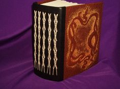 $45.95 on Etsy.  #bookbinding #sewn #spine #texture #leather #pattern