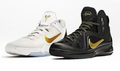 Kobe Bryant' and LeBron James' playoff shoes by Nike Basketball
