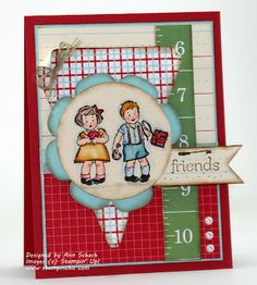 Such a darling card by Ann Schach - The Stampin' Schach. #cards #card_making #scrapbooking