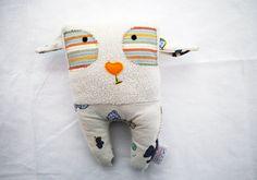 Cute Bored Soft Toy by KonfetaKroj on Etsy, $16.00 Dog Toy, Sewn Toy, Handmade, Cotton, Felt, Stuffed, poly fil, Etsy Shop. For Babies. Nursery decor