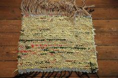 "Mat ""Yellow and Hairy Mat"" - Terra Mama Bohemian Rug, Hand Weaving, Rugs, Yellow, Farmhouse Rugs, Hand Knitting, Rug, Weaving"
