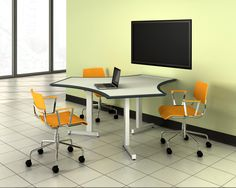 Izzy Design Dewey C-Leg Seated Height Training Table Color: Dover White/Hippo Dover White, Office Desk, Shelving, Corner Desk, Training, Table, Furniture, Otter, Color