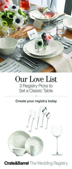 3 Registry Picks to Set a Classic Table Place Settings, Table Settings, White Dinnerware, Wedding Decorations, Table Decorations, Le Diner, Rustic White, Noel Christmas, Wedding Table