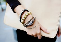 Lovely stack. Will give any outfit an edgy look. #stylistics