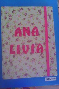 Capa de caderneta de vacina em cartonagem
