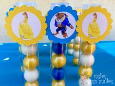 Beauty and the Beast inspired Favors Gumball by RosiesPoshParties
