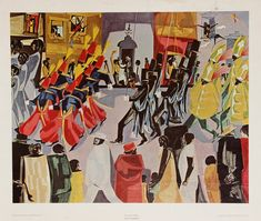 Kindergarten Jacob Lawrence, The Parade, 1960