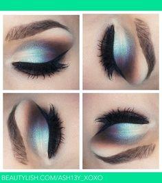 Silver and blue eyeshadow #lola #lolabox #makeup #eyemakeup #eyeshadow #beauty